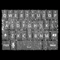 Silver Glitter Keyboard Skin icon