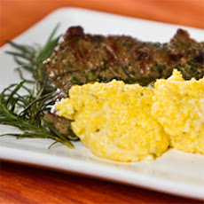 Grilled Marinated Skirt Steak With Fabio's Grandma's Polenta