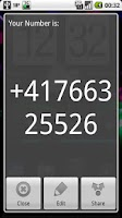 Screenshot of My Phone Number Widget