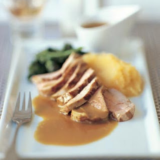 Pork Tenderloin with Cider Jus and Rutabaga Purée