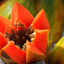Papaya in Style on Indian Street by Ashimananda Chowdhury - Food & Drink Fruits & Vegetables