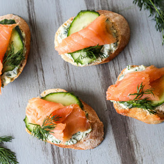 Salmon Yogurt Canapes