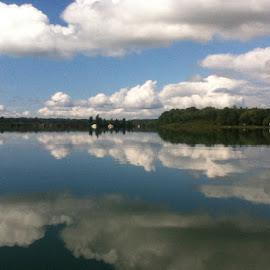 Mirror image by Chris Liewe - Nature Up Close Water ( kayak ride )