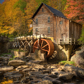 by Walter Farnham - Buildings & Architecture Public & Historical ( glade creek, color, fall, rocls, wv,  )
