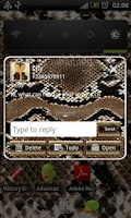Screenshot of Snake GO SMS Pro theme