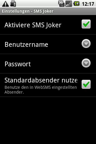 WebSMS: SMSJoker Connector