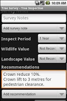 Screenshot of Tree Survey