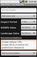 Screenshot of Tree Survey