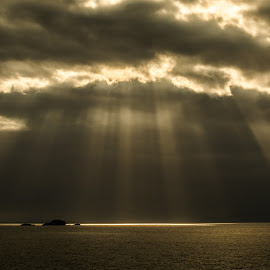 The light shines down on the righteous... by Nicole Williams - Novices Only Landscapes ( light sunset skye lightbeams )