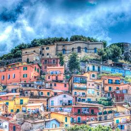 Rocca di Papa by Sergio Papandrea - Buildings & Architecture Homes ( rocca di papa, hdr, castelli romani, cityscape, homes )