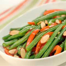 Savory Braised Green Beans & Red Pepper