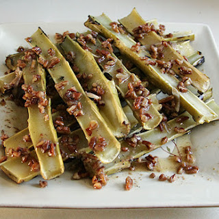 Broccoli Marrow with Pecan, Garlic Butter