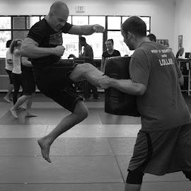 Jump Kick by Paul Hopkins - Sports & Fitness Fitness