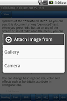 Screenshot of WikiMind note