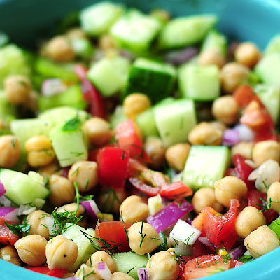 Bush's Beans Cucumber and Chickpea Salad