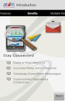 Screenshot of atom mobile application.