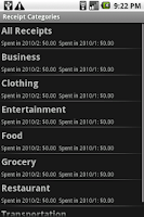 Screenshot of Receipt Filer Lite
