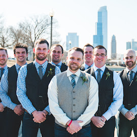 Groomsmen in the City by Jess Anderson - Wedding Groups ( nx1, weddingphotography, weddingday, wedding, chicago, jessica anderson, ditchthedslr, mchenryphotography.com, weddingphotographer, imagelogger, photography )