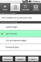 Screenshot of Gleim CMA Diagnostic Quiz