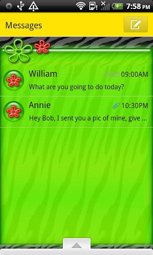 GO SMS THEME CartonTiger2