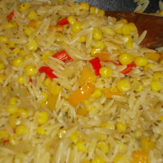 Corn and Pepper Orzo