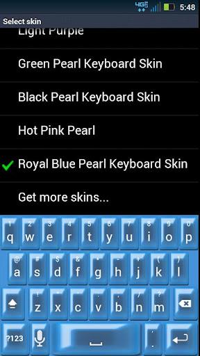 Royal Blue Pearl Keyboard Skin
