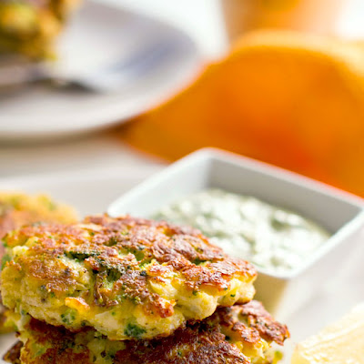 Cauliflower Broccoli Halloumi Fritters With Coriander Aioli
