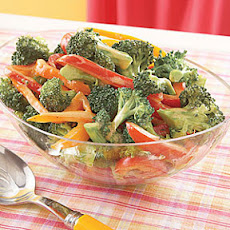 Broccoli and Bell Pepper Salad