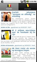 Screenshot of Newspapers BE