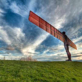 Angel of the North by Ian Taylor - Buildings & Architecture Statues & Monuments ( landmark, statue, uk, gateshead, angel of the north, tyne & wear )
