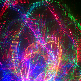 Rollercoaster ! by Jim Barton - Abstract Patterns ( lights, rollercoaster, laser light, colorful, light design, laser design, laser, light, science )