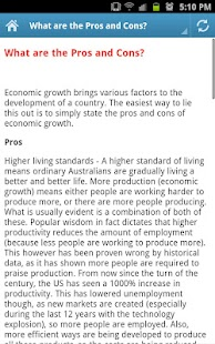 Economic Growth - screenshot