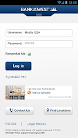 Screenshot of Bank of the West Mobile