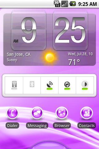 【免費個人化App】aHome Theme: Flow (Purple)-APP點子