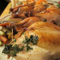 Roast Poussin With Chestnut Stuffing