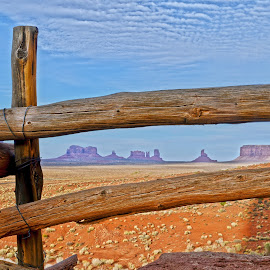 Monument Valley View by J Alexander Baker - Landscapes Deserts ( monument valley, navajo nation, american west, utah, arizona, antelope canyon, grand canyon )