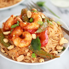 Thai Shrimp Curry and Peanut Noodles