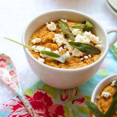 Sweet Potato Soufflé with Feta & Sage