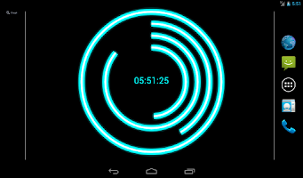 Screenshot of Neon Clock Live Free Wallpaper