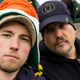 Father and son Selfie by Neil London - People Portraits of Men ( selfie, football, family, son, father, Selfie, self shot, portrait, self portrait )