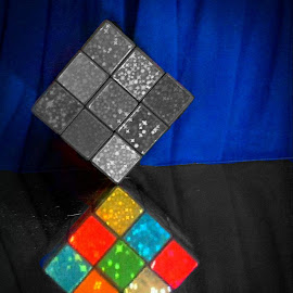 Cubism by Cecilia Sterling - Artistic Objects Still Life ( educational toy, toy, rubix, cube, portrait )