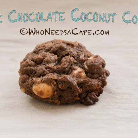 Triple Chocolate Coconut Cookies