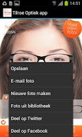 Screenshot of Tilroe Optiek app