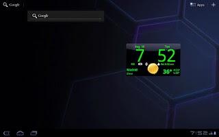 Screenshot of Smoked Glass Clock Widget