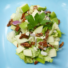 Chopped Apple & Blue Cheese Salad with Warm Bacon Vinaigrette
