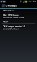 Screenshot of CPU Sleeper 4.0 Universal