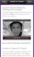 Screenshot of HoodieZ For Trayvon