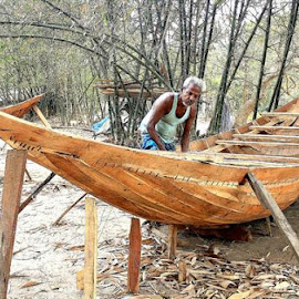 boat making by Anit Adhikary - Transportation Boats