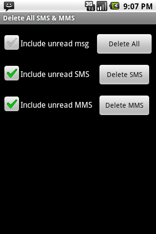 Clear All SMS MMS
