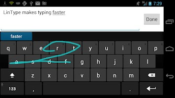 Screenshot of LinType Keyboard Beta